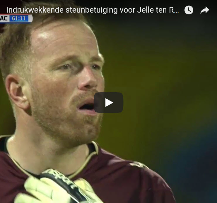 NAC Breda goalie Jelle ten Rouwelaar almost in tears